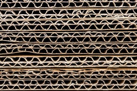 Foto de Stack of Corrugated Cardboard Background - Imagen libre de derechos