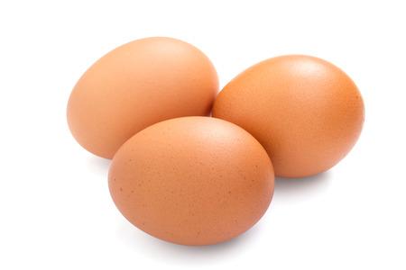 Photo pour Three eggs isolated on white background - image libre de droit