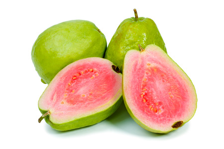 Photo for Ripe guava on white background - Royalty Free Image
