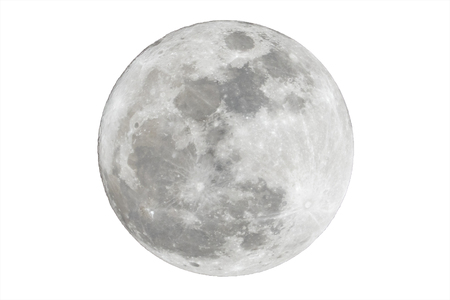 Photo for Full moon isolated over white background - Royalty Free Image