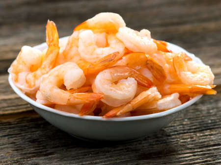 Photo pour Cooked shrimps - image libre de droit