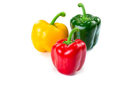 Photo for Sweet bell pepper isoalted on white - Royalty Free Image