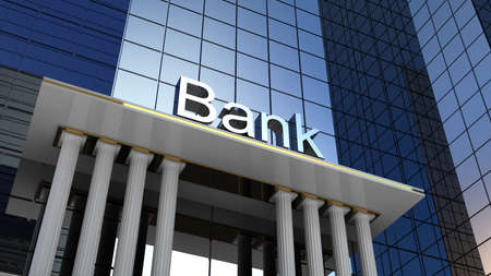 Photo pour Bank building, 3D images - image libre de droit