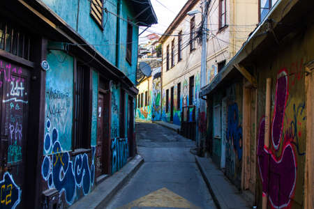 Photo for Street Arts - Graffiti in Valparaíso Chile - Royalty Free Image