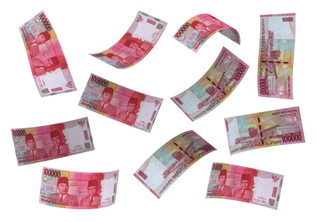 Photo for 3D Indonesian rupiah money white background - Royalty Free Image