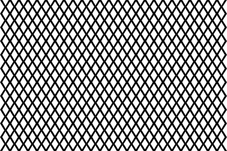 Illustration pour Mesh - abstract black and white pattern - vector, Abstract geometric pattern with lines, Vector illustration of fence, - image libre de droit