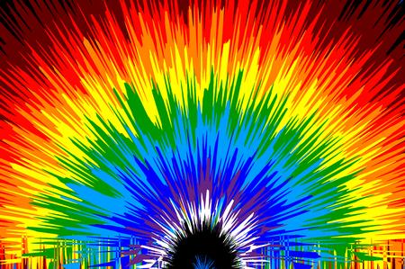 Ilustración de Rainbow - abstract colorful vector pattern. - Imagen libre de derechos