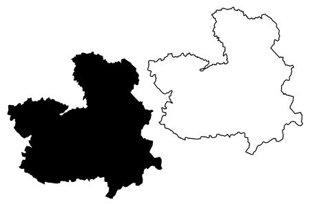 Illustration pour Castilla–La Mancha (Kingdom of Spain, Autonomous community) map vector illustration, scribble sketch Castile–La Mancha map - image libre de droit