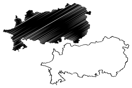 Illustration pour Aydin (Provinces of the Republic of Turkey) map vector illustration, scribble sketch Aydin ili map - image libre de droit