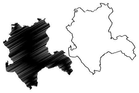 Illustration pour Konya (Provinces of the Republic of Turkey) map vector illustration, scribble sketch Konya ili map - image libre de droit