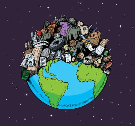 Ilustración de Polluted Planet - Imagen libre de derechos