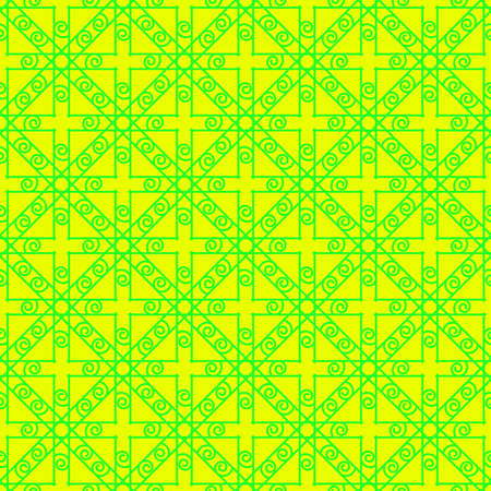 Illustration pour Bright green and yellow geometric seamless pattern. - image libre de droit