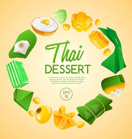 Ilustración de Thai Dessert : Vector Illustration - Imagen libre de derechos
