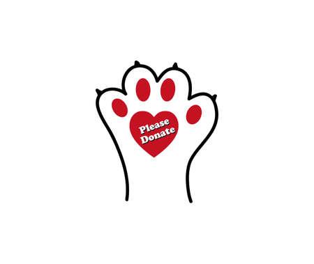 Ilustración de Animal lovers - please donate or adopt sign - Imagen libre de derechos