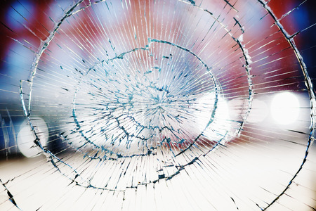 Photo for Broken window glass background - Royalty Free Image