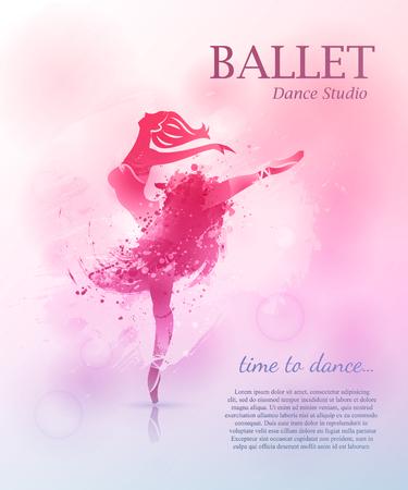 Illustration for Ballet poster design - Royalty Free Image
