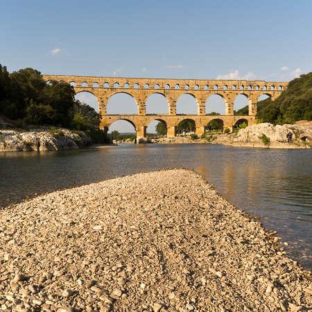 Photo for Pont du Gard near Nimes, France - Royalty Free Image