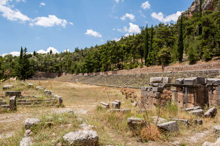 Photo for Ancient stadium at Delfi , Greece - Royalty Free Image