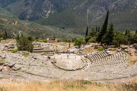 Photo for Ancient Theatre in Delfi , Greece - Royalty Free Image