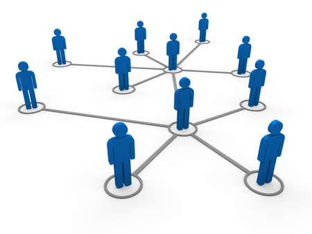 Photo for 3d blue social network community men team - Royalty Free Image