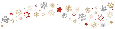 Illustration for Snowflakes and Stars Border - Royalty Free Image