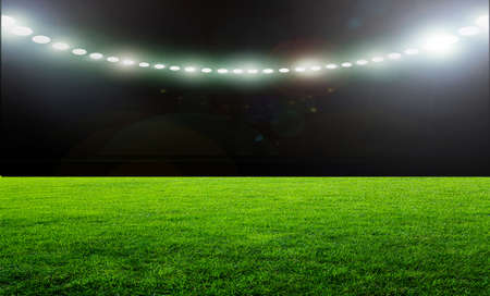 Foto de On the stadium. abstract football or soccer backgrounds - Imagen libre de derechos
