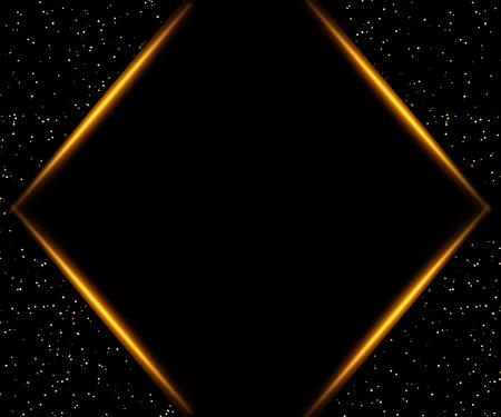 Illustration for Luxury black and gold background. Design for presentation, concert, show. Vector illustration - Royalty Free Image