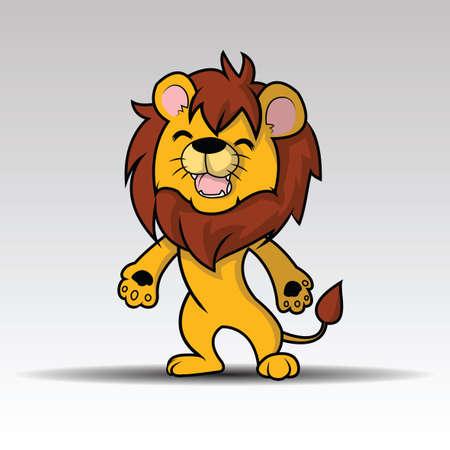 Illustrazione per Happy Cute lion cartoon vector - Immagini Royalty Free