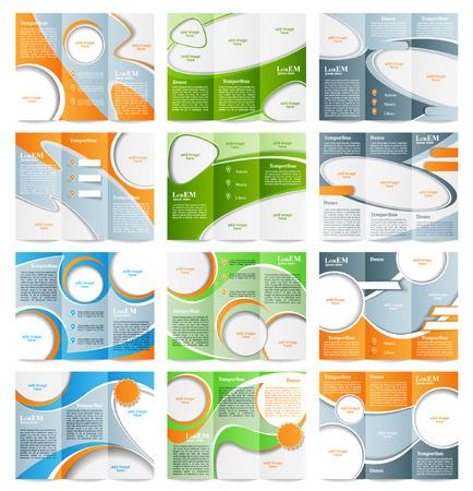 Ilustración de Set of Tri-fold brochure template - Imagen libre de derechos