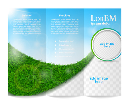 Illustration pour Tri-fold brochure template - image libre de droit