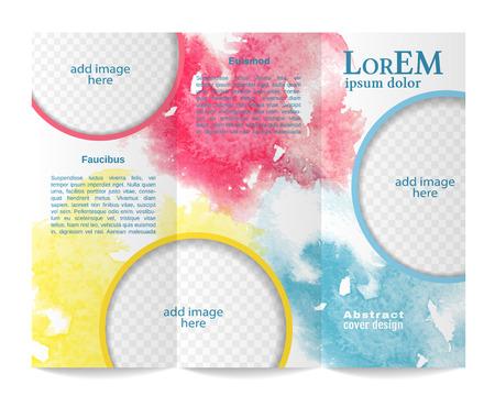 Ilustración de Tri-fold brochure template - Imagen libre de derechos