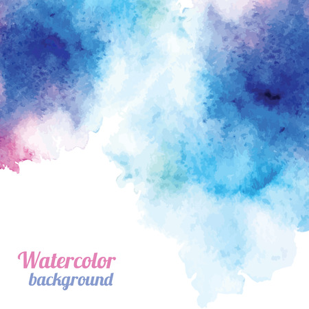 Ilustración de Watercolor background. Vector illustration for your design - Imagen libre de derechos