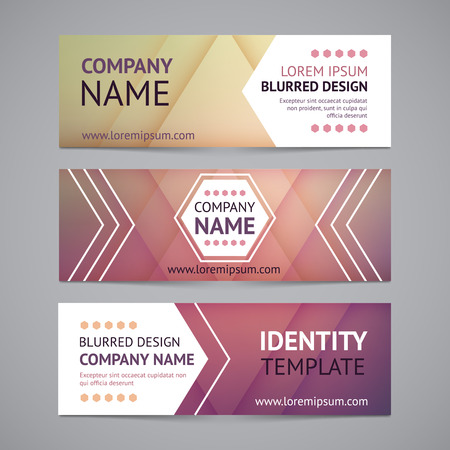 Illustration pour Vector company banners with blurred backgrounds - image libre de droit
