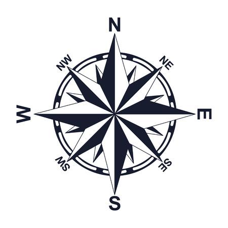 Ilustración de Compass. Direction. North West East South. For your design. Icon. - Imagen libre de derechos