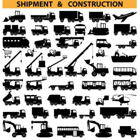 Illustration pour commercial vehicles pictograms - image libre de droit
