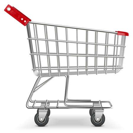 Ilustración de Vector Supermarket Cart - Imagen libre de derechos