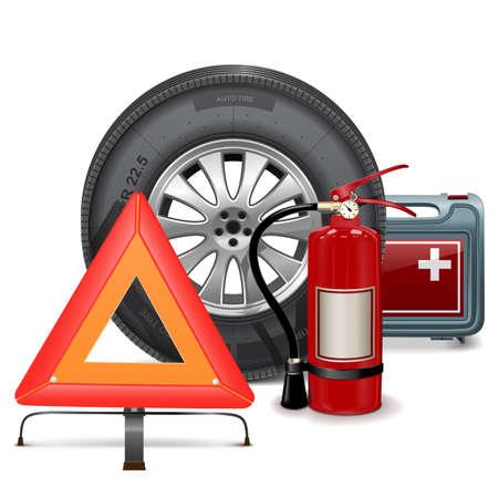 Illustration pour Vector Car Parts Consept - image libre de droit