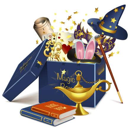 Ilustración de Vector Magic Box isolated on white background - Imagen libre de derechos