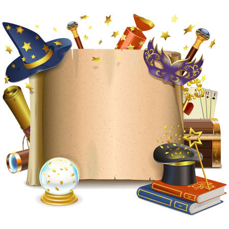 Ilustración de Vector Magic Frame isolated on white background - Imagen libre de derechos