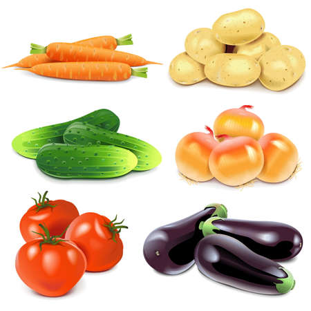 Photo for Vegetables isolated on white background - Royalty Free Image