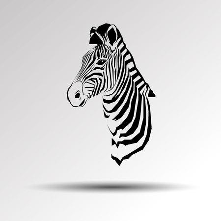 Illustration for Animal zebra vector illustration wild mammal white black zoo striped. - Royalty Free Image