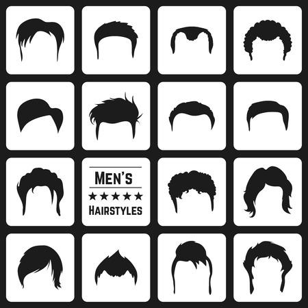 Ilustración de Different types of Mens haircuts. Vector Illusatrtion - Imagen libre de derechos