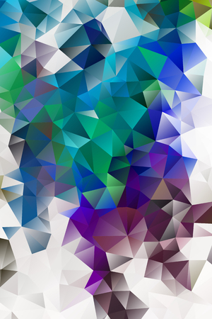 Illustration pour vector multicolored abstract background of effect geometric triangles. - image libre de droit