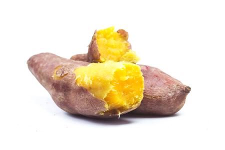 Foto de Sweet potatoes on white background - Imagen libre de derechos