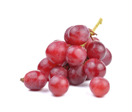 Photo for Fresh red grape on white background - Royalty Free Image