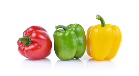 Photo pour Bell pepper  isolated on white background - image libre de droit