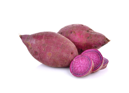 Photo for purple sweet  yams  on  white background. - Royalty Free Image