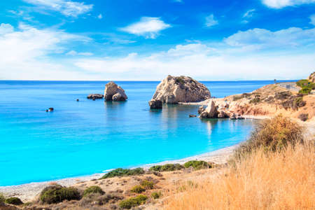 Photo for Beautiful view of the birthplace of Aphrodite in Cyprus. Petra tu Romiou, Stone of Aphrodite - Royalty Free Image
