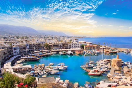 Photo for Beautiful view of the Kyrenia Bay in Kyrenia (Girne), North Cyprus - Royalty Free Image