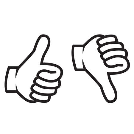 Illustration for Thumbs up and down gesture - Royalty Free Image